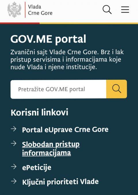 Novi portal Vlade CG u potpunosti pristupačan osobama oštećenog vida
